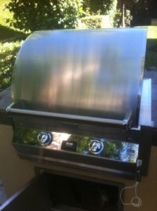 Pictured is a Fire Magic BBQ in Mission Viejo before the cleaning by BBQ Restorations.
