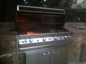 Pictured is a FireMagic BBQ in San Clemente before BBQ Restorations performs one of our expert barbecue cleanings.